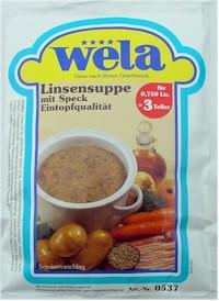 Linsensuppe-Eintopfqualität von Wela