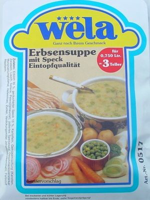 Erbsensuppe-Eintopfqualität von Wela