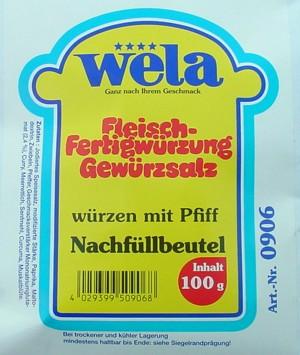 Gewürzsalz – Fleischfertigwürzung Nachfüllbeutel von Wela