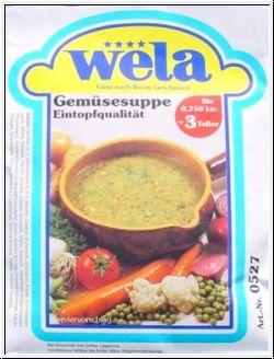 Gemüsesuppe-Eintopfqualität