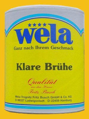 Klare Brühe Paste, 1/1 Dose von Wela