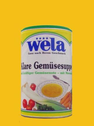 Klare Gemüsesuppe mit kräftiger Gemüsenote und Meersalz gekörnt 1/2 Dose