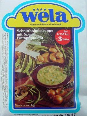 Schnittbohnensuppe-Eintopfqualität von Wela