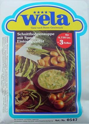 Schnittbohnensuppe-Eintopfqualität