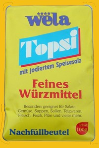 Topsi – mit jodiertem Speisesalz Nachfüllbeutel von Wela