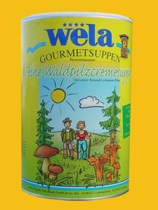 """Feine Waldpilzcremsuppe """"Rennsteigsuppe"""" Dose von Wela"""