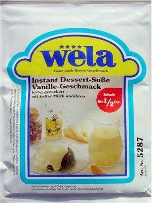 Instant Dessert-Soße Vanille-Geschmack von Wela