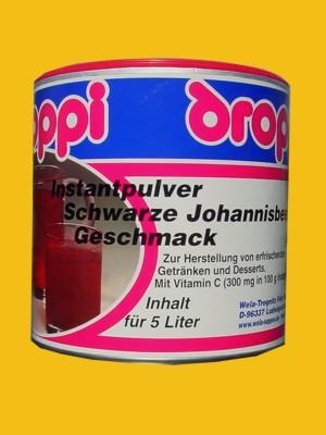 Droppi Instantpulver Schwarze Johannisbeeren Geschmack
