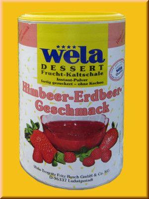 Dessert Frucht-Kaltschale Himbeer-Erdbeer-Geschmack