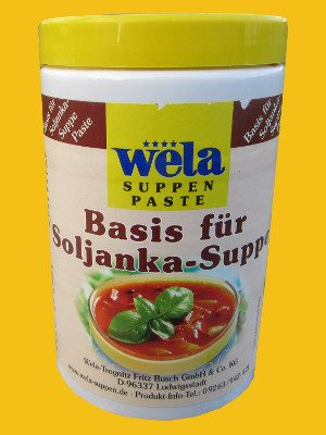 Soljanka-Suppen Basis von Wela