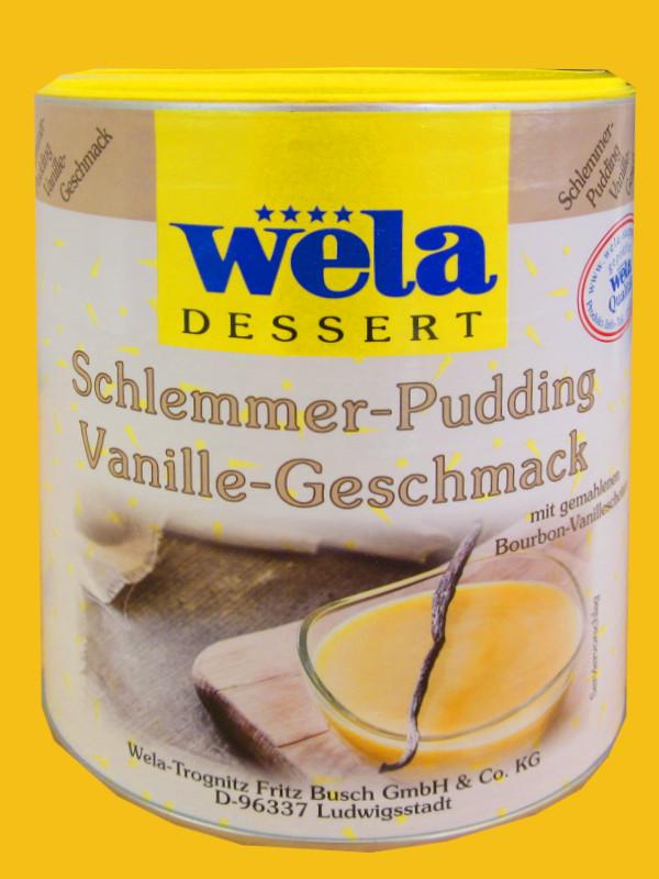 Schlemmer-Pudding Vanille-Geschmack mit gemahlenen Bourbon Vanilleschoten