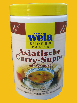 Asiatische Curry Suppe Paste