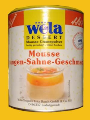 Mousse Orangen-Sahne-Geschmack